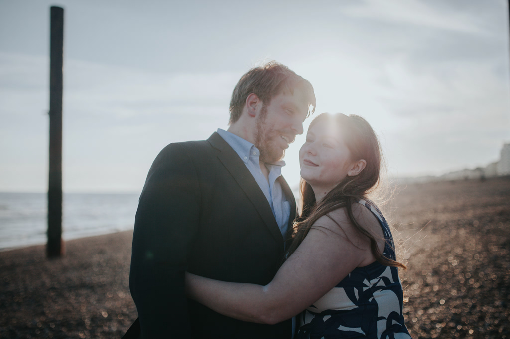 Sonia & Ben - Brighton & Beach Engagement Photography 24