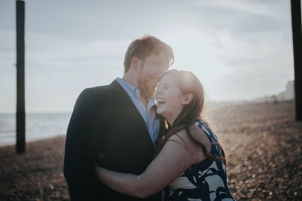 Sonia & Ben - Brighton & Beach Engagement Photography 15