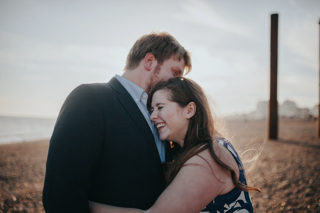 Sonia & Ben - Brighton & Beach Engagement Photography 25