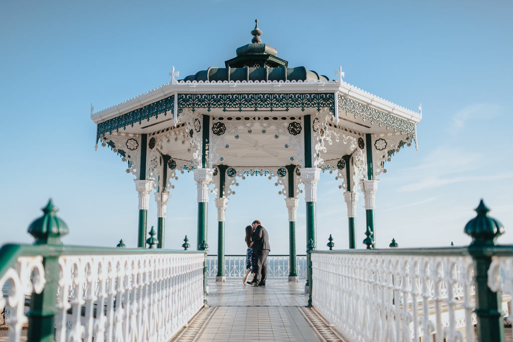 brighton bandstand engagement photography