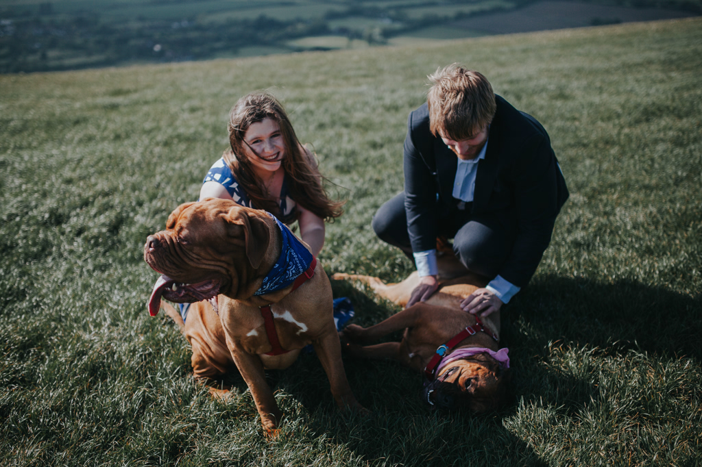 couples photography with dogs