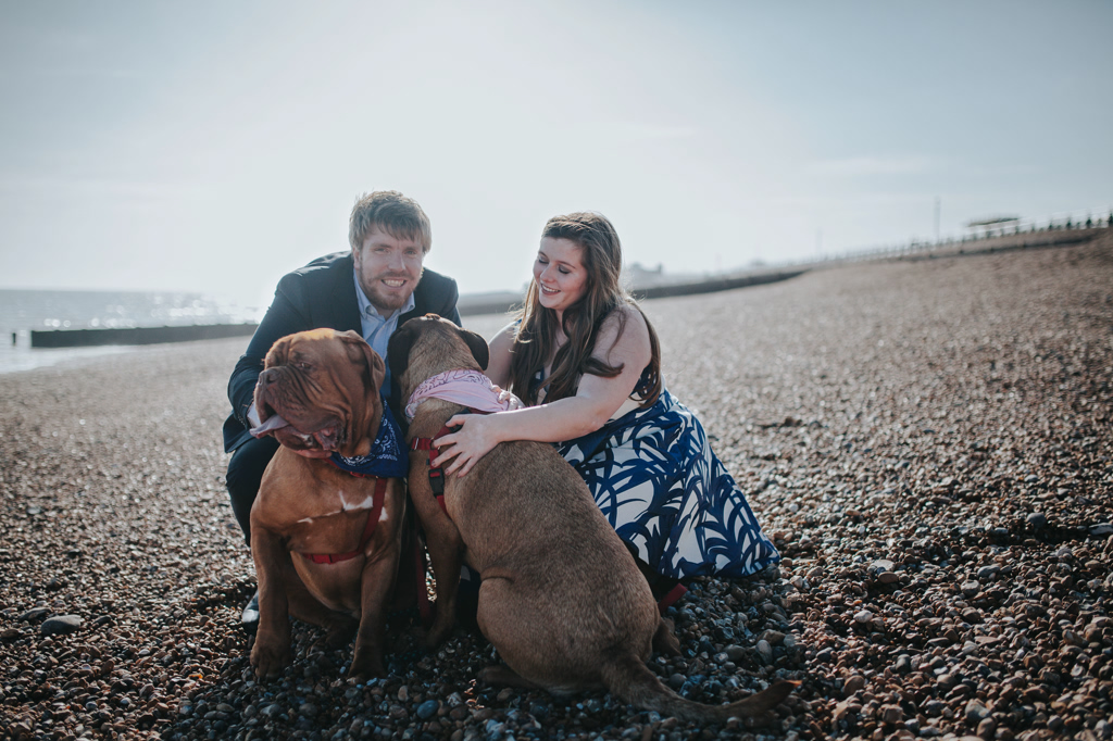 Sonia & Ben - Brighton & Beach Engagement Photography 11