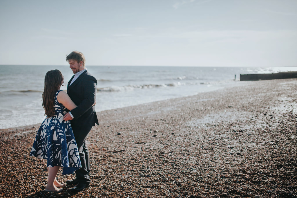 Sonia & Ben - Brighton & Beach Engagement Photography 23