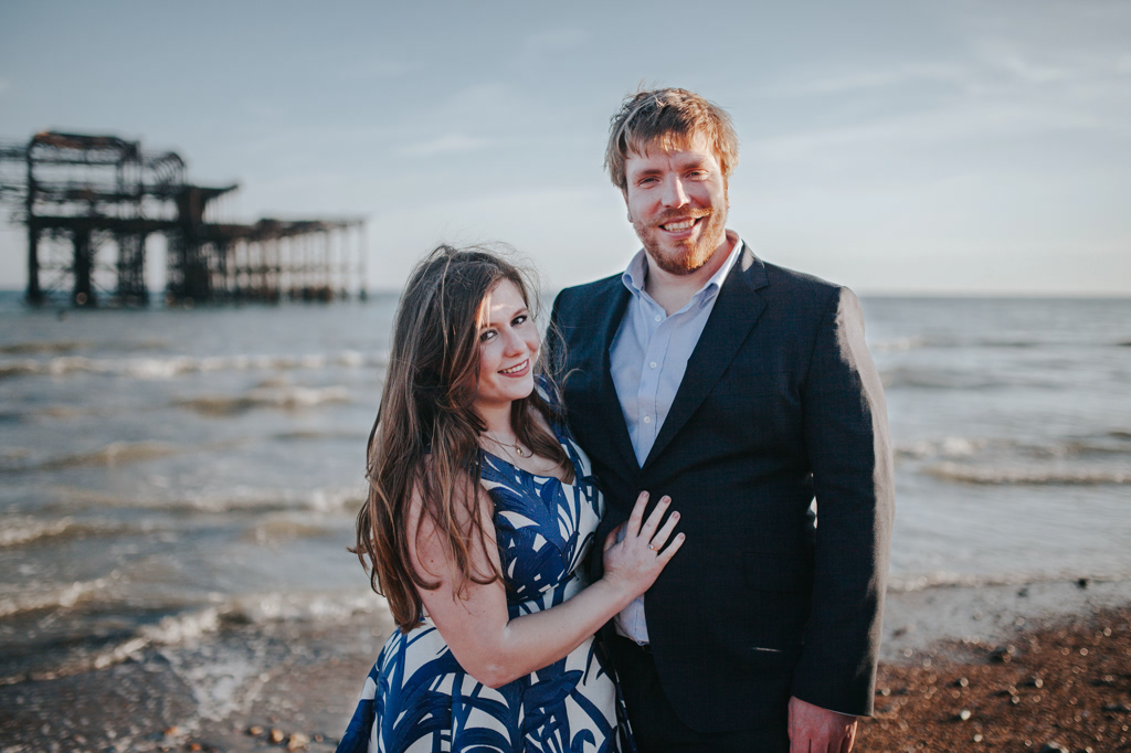 Sonia & Ben - Brighton & Beach Engagement Photography 13
