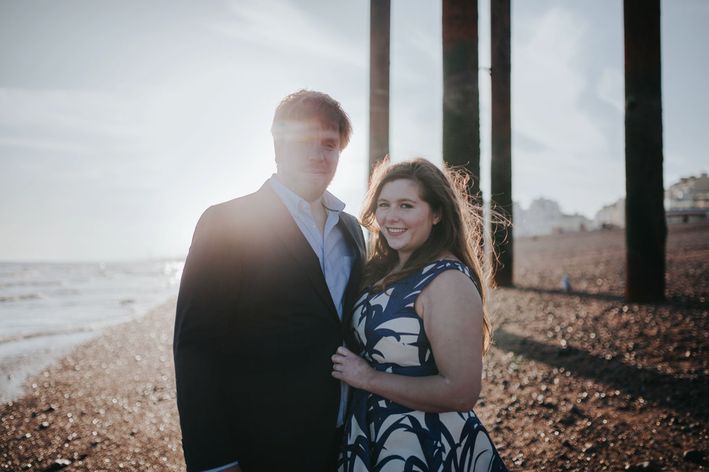 Sonia & Ben - Brighton & Beach Engagement Photography 14