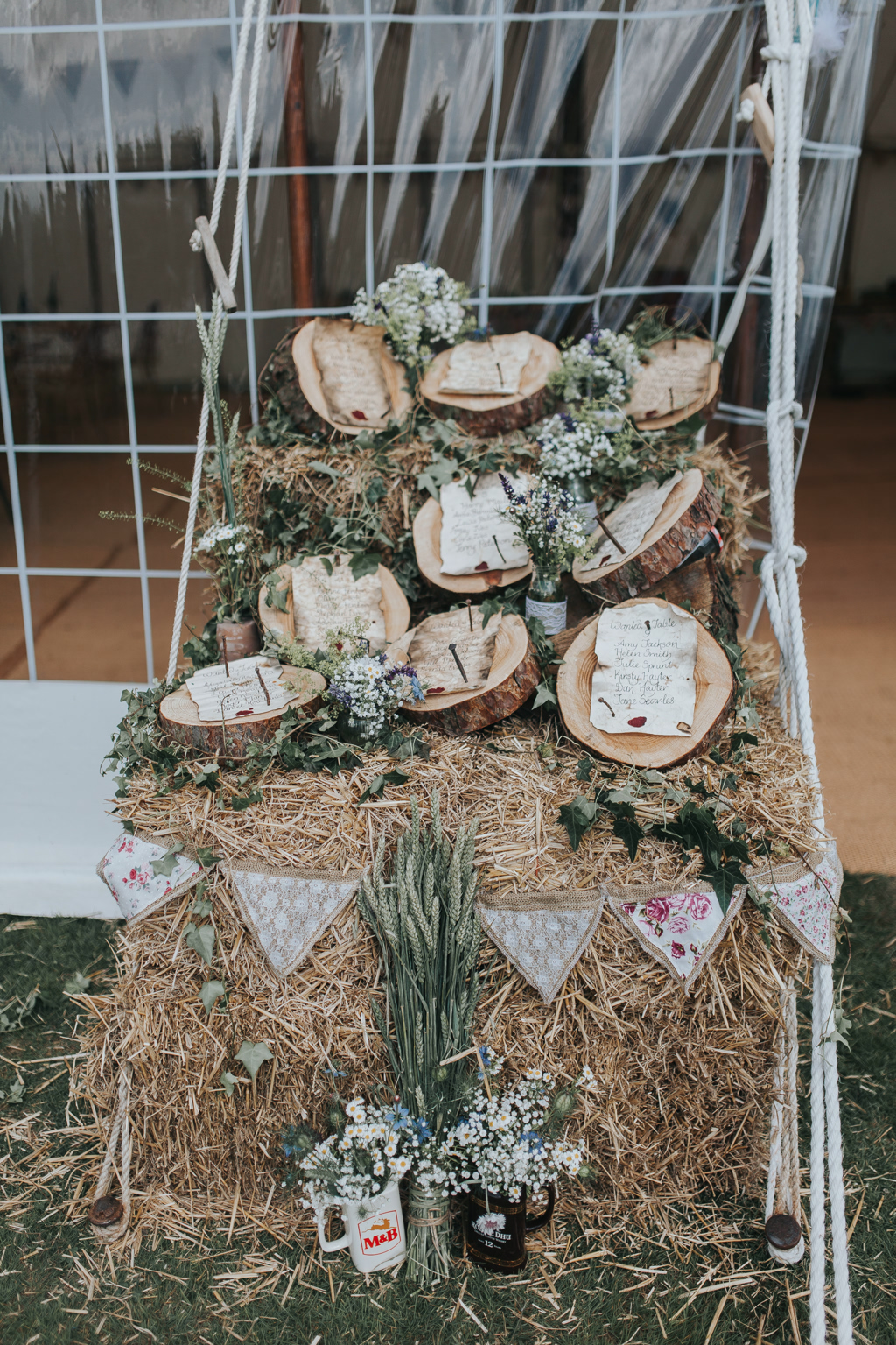 Emily and Phillip's Amazing Rustic DIY Tent Marquee Wedding in a Field in Colchester, Essex! 38