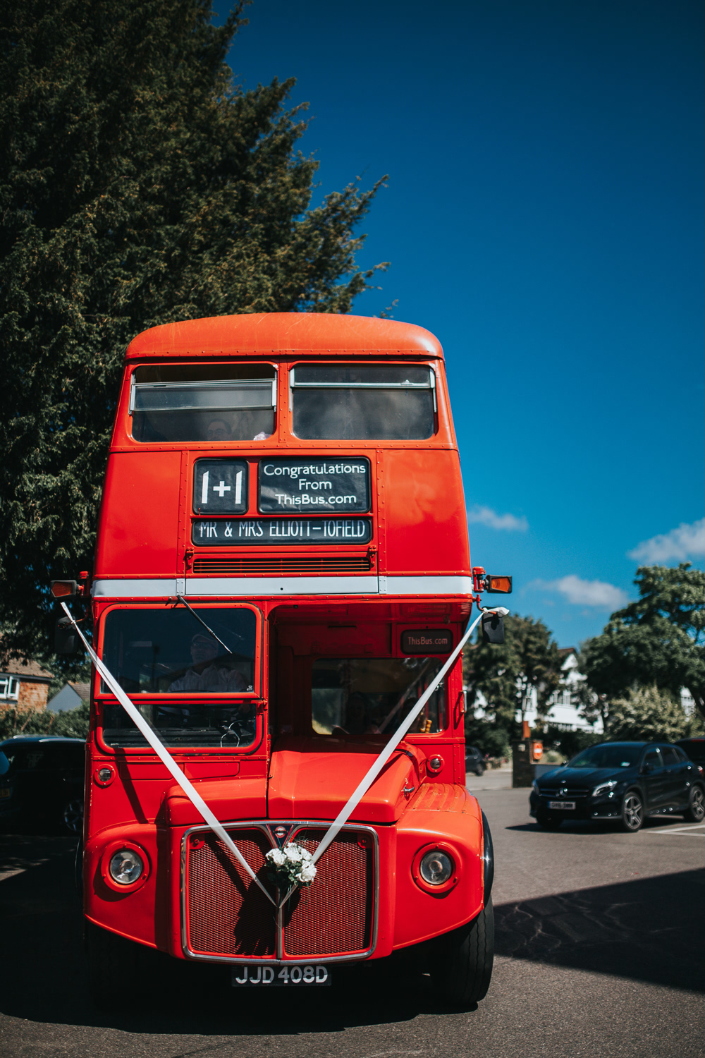 Jennifer & James' Bromley Wedding Photography with a London Bus! 20