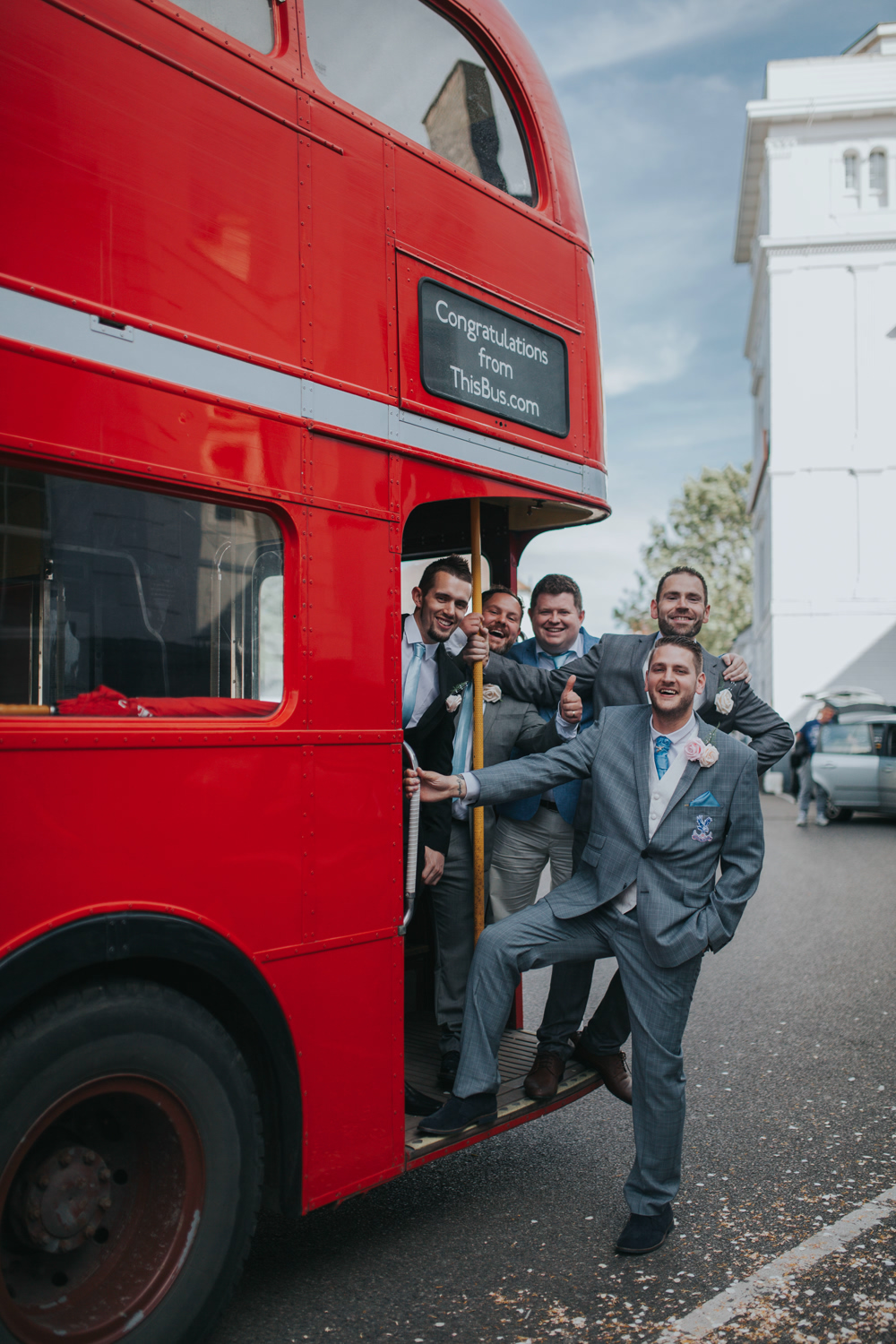 Jennifer & James' Bromley Wedding Photography with a London Bus! 33