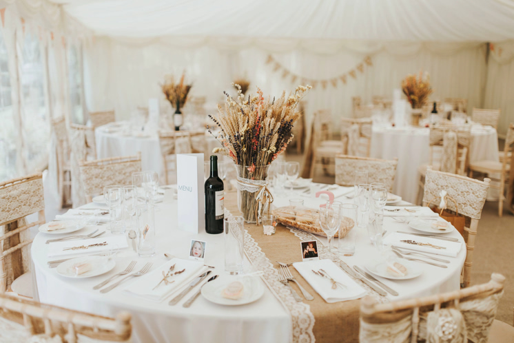 rustic wedding details table