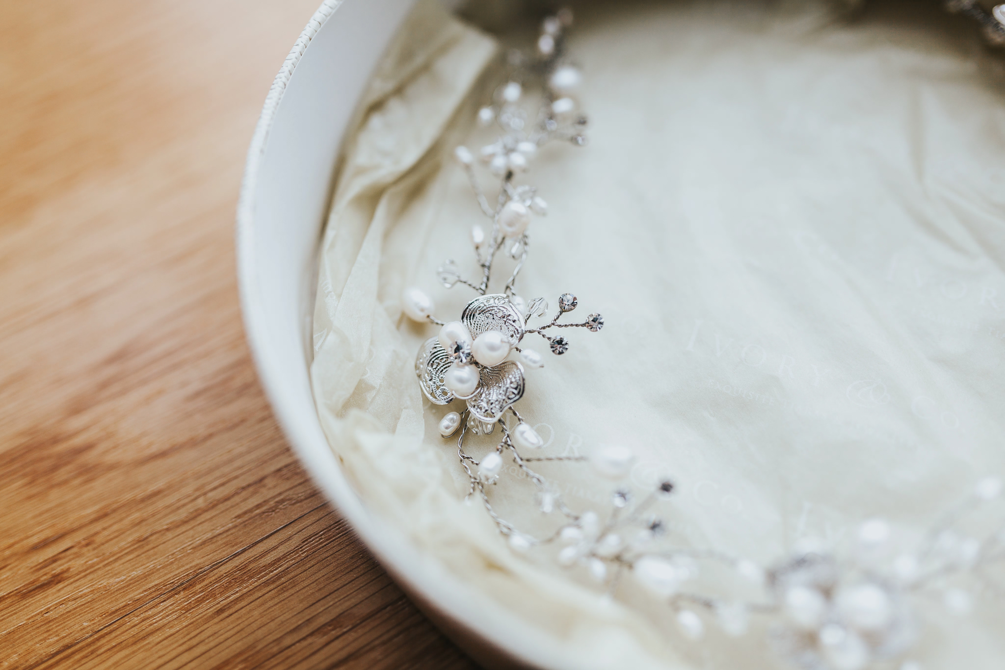 bridal tiara headband photography