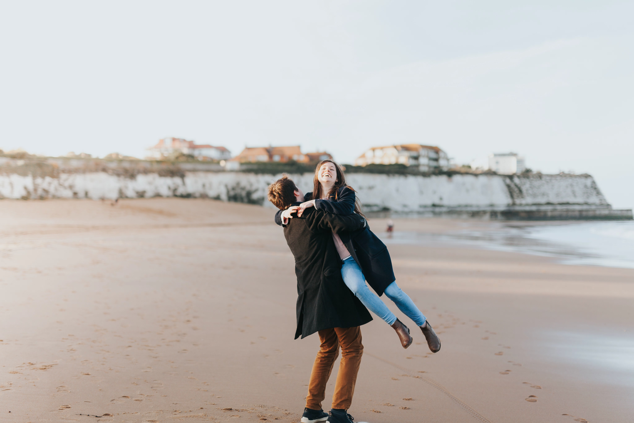 beach engagement photography kent