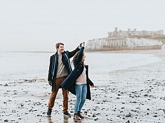 engagement photography kent beach
