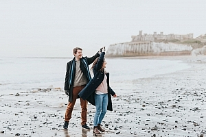 Beach Engagement Photoshoot in Broadstairs, Kent: Rachel & Jonny