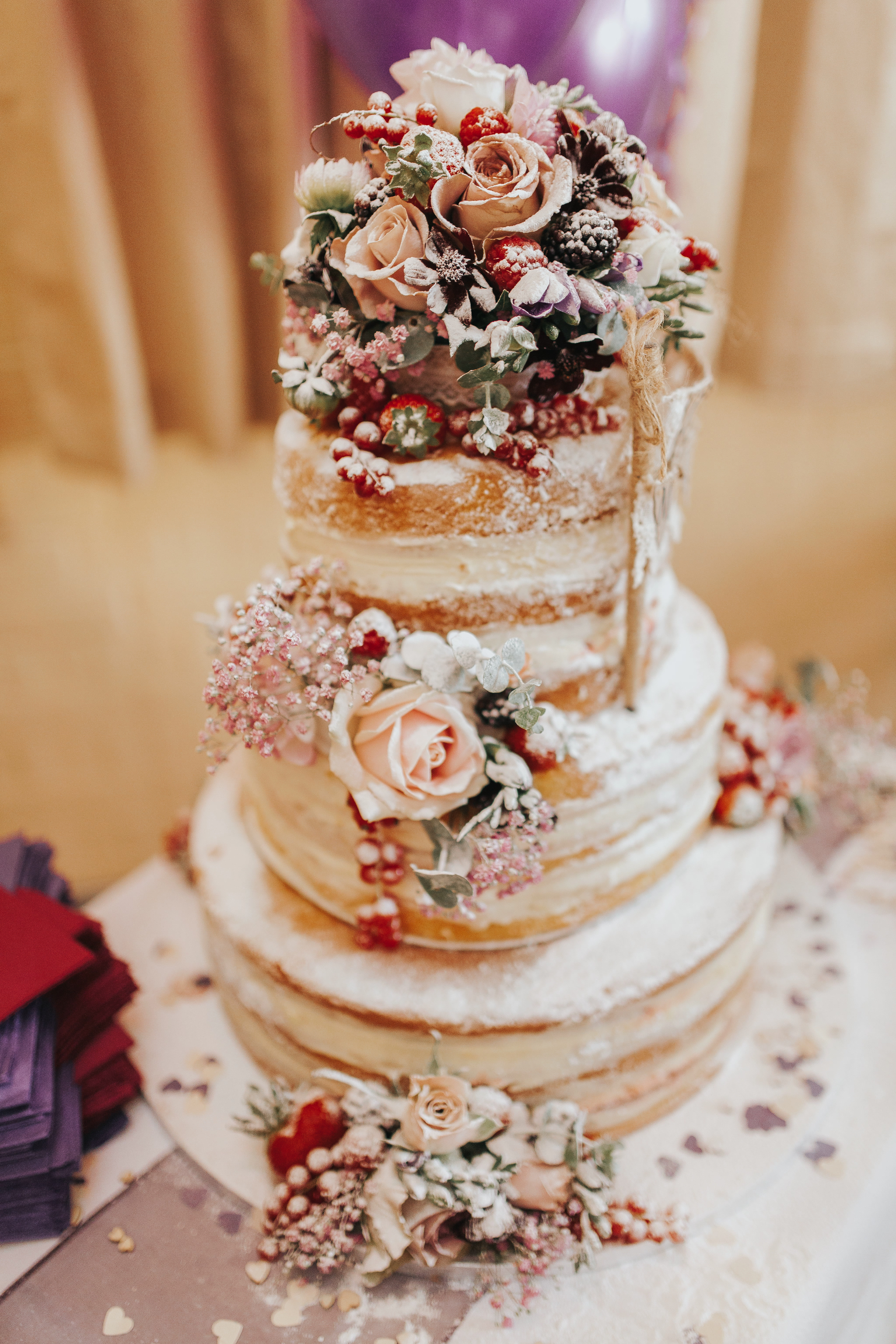 frosted naked wedding cake flower berries wedding cakes summer ideas diy rustic