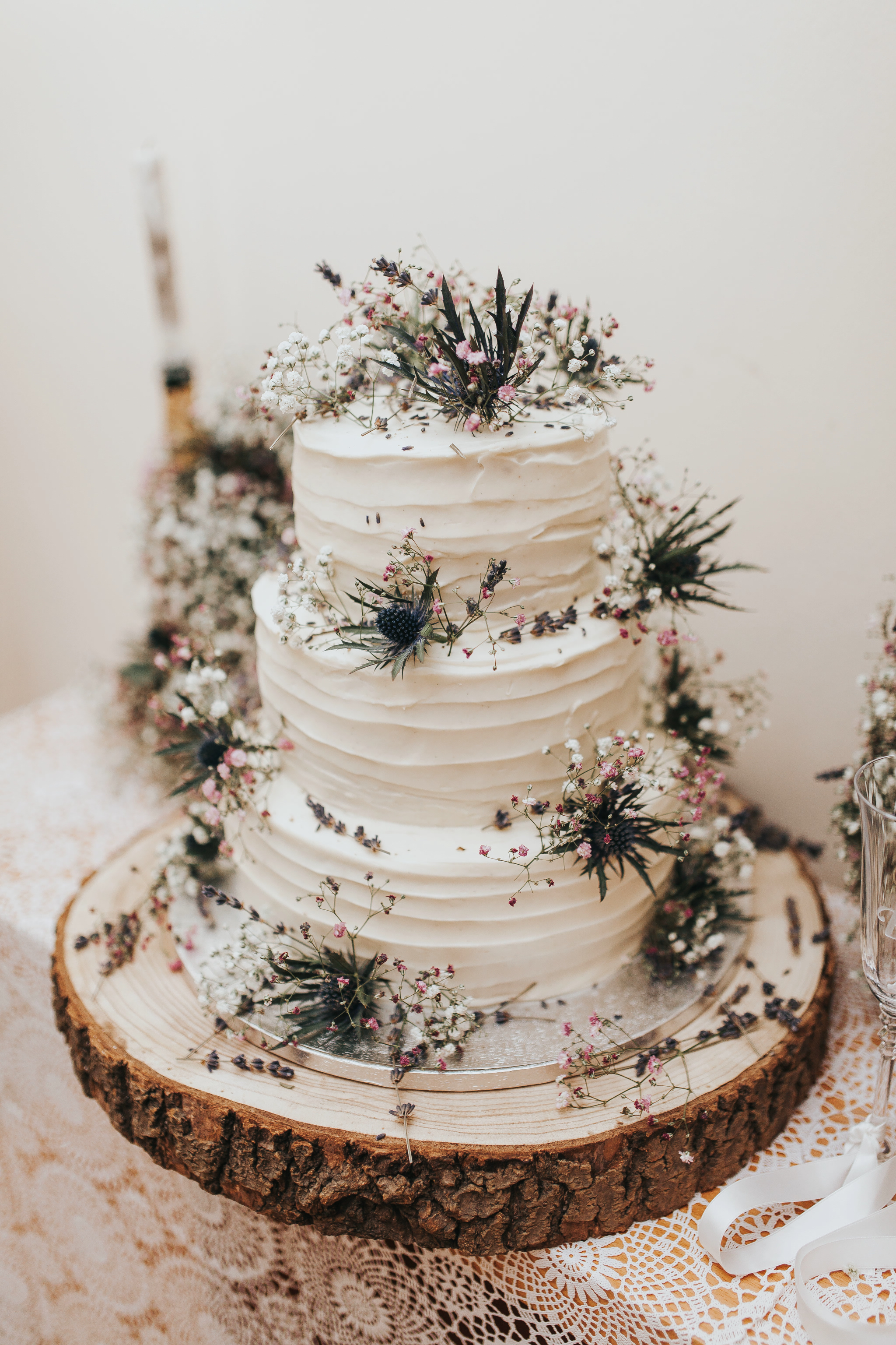 thistle wedding cake naked wedding cakes floral rustic diy details ideas