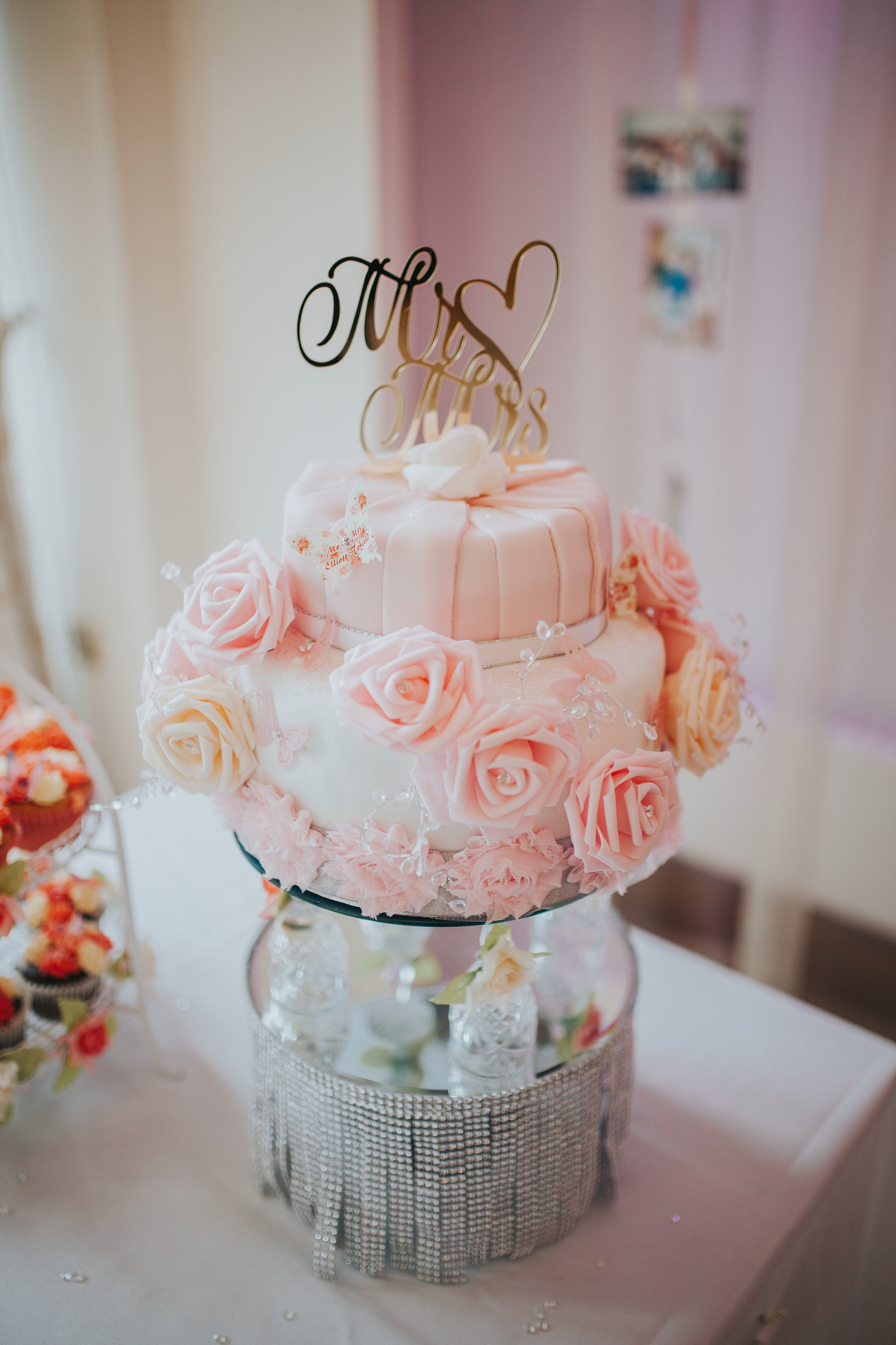 simple small wedding cakes budget ideas rose pink wedding cake diy
