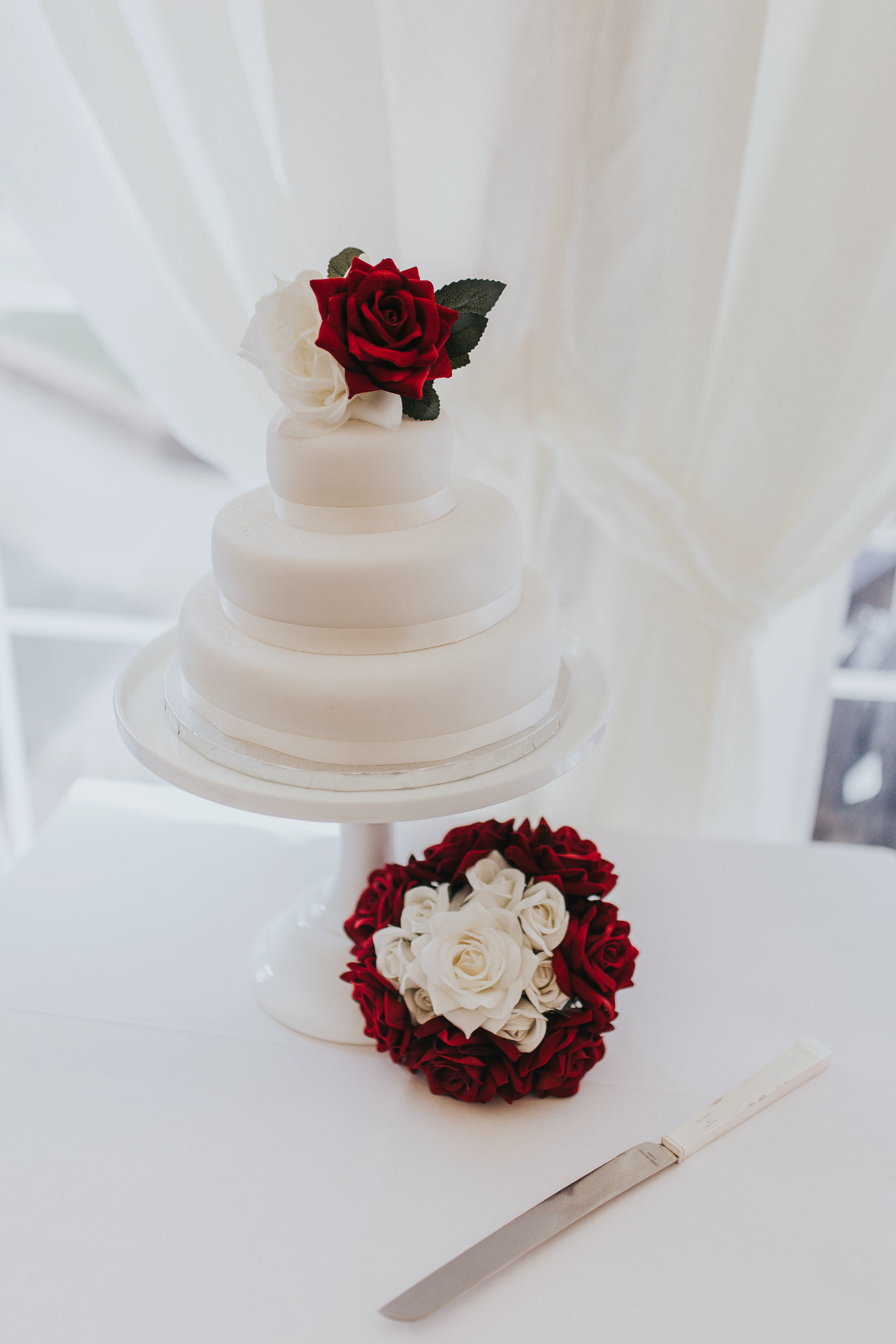 m&s wedding cakes small plain simple cakes red rose
