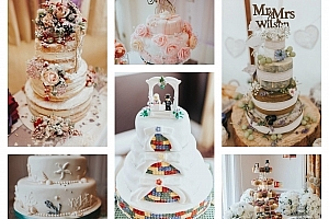 My favourite wedding cakes of 2017 as a wedding photographer…