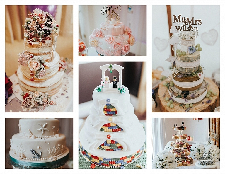 wedding cakes photography