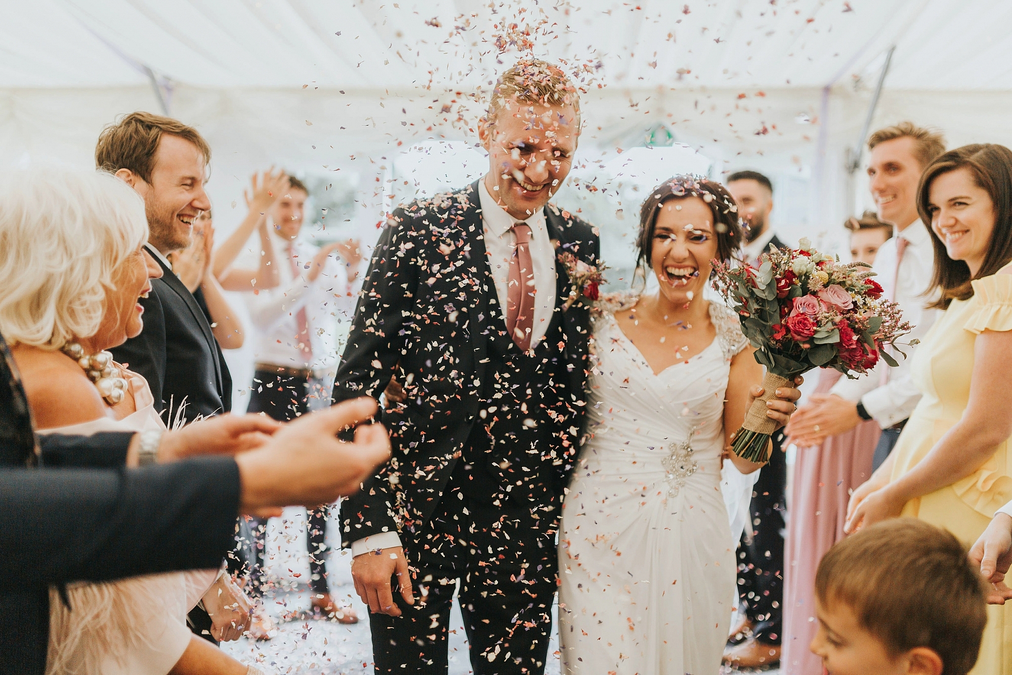 confetti Hilltop Country House Wedding Photography Claire Keir by Emily Crutcher 68
