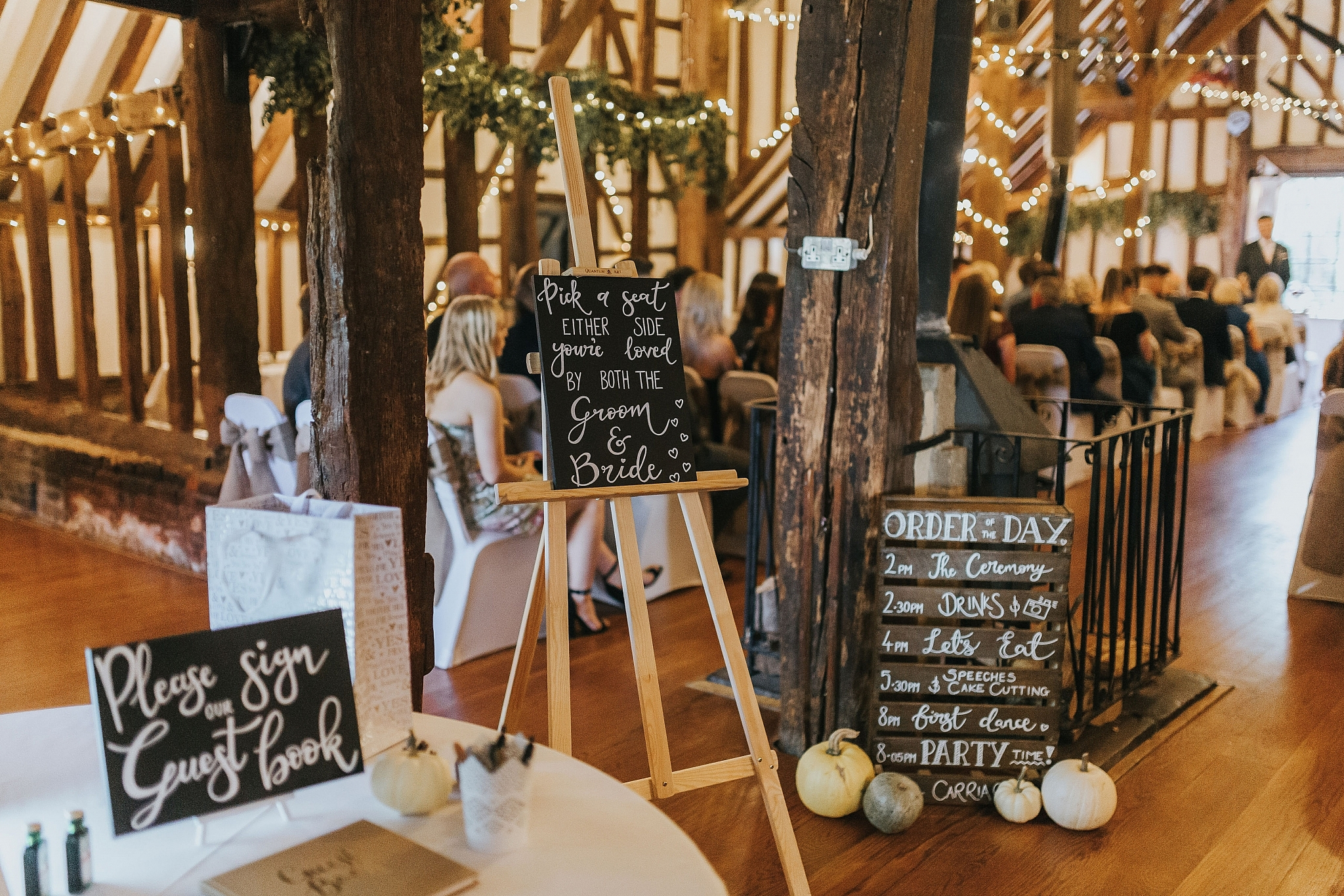 rustic autumn wedding signs