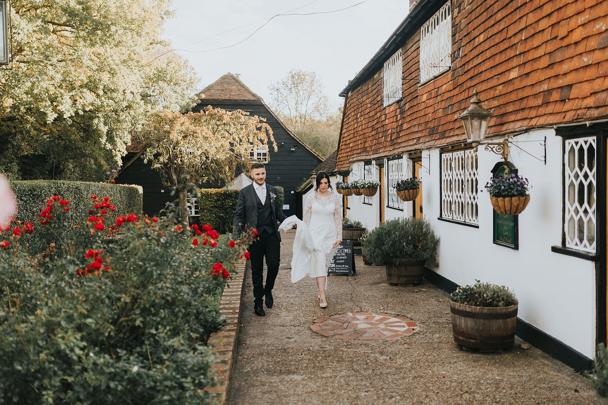 Country pub wedding kent Sam and Tom The Plough At Leigh Wedding Photography 42