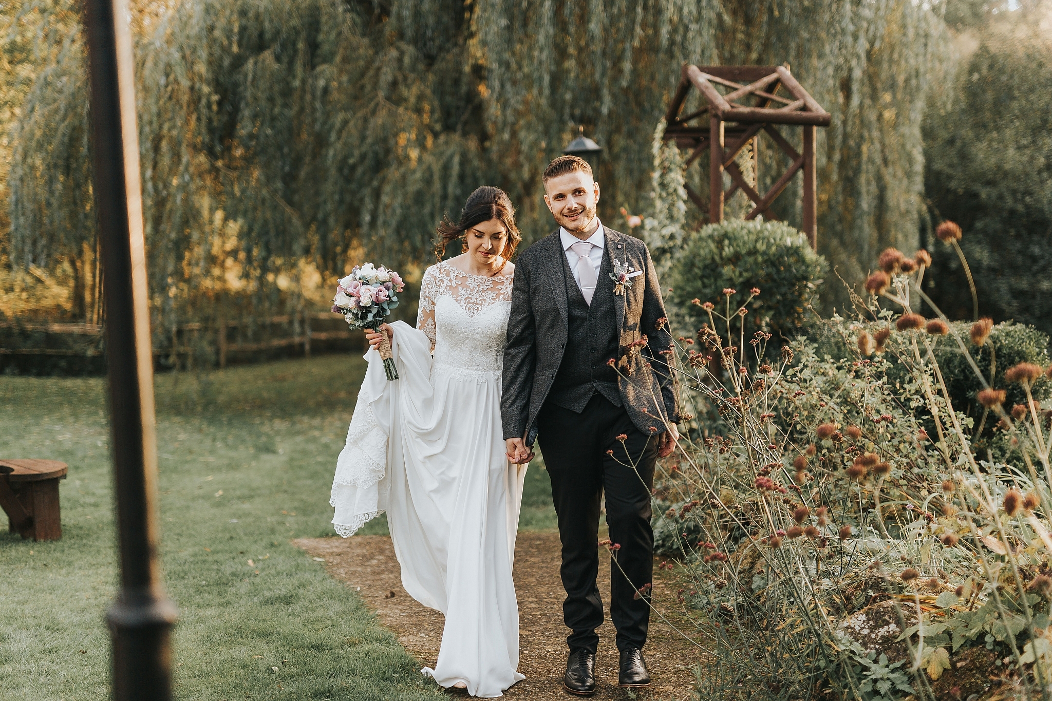 Country pub wedding kent Sam and Tom The Plough At Leigh Wedding Photography 48