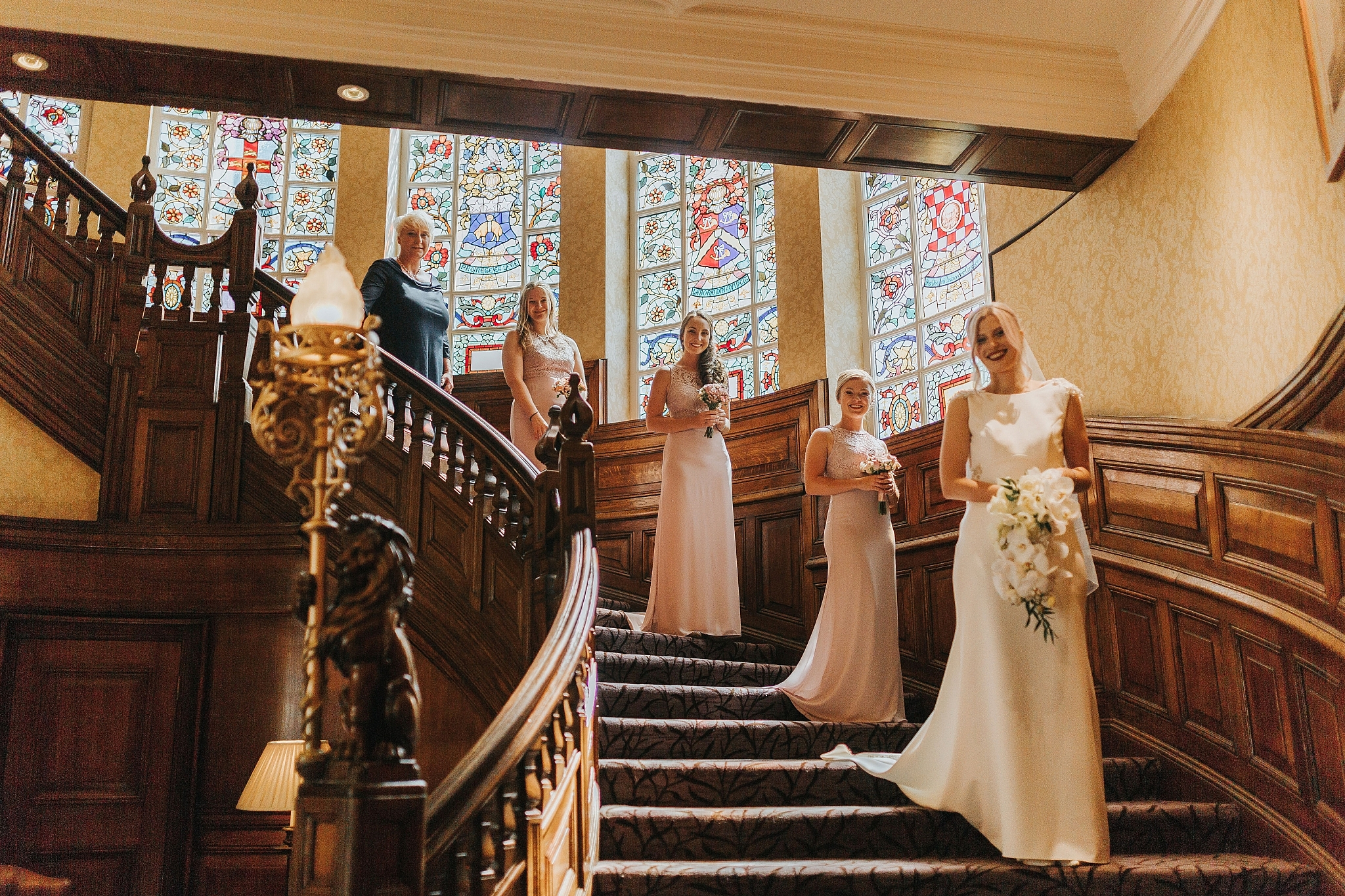 wedding party stairs