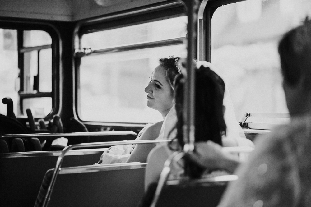 Jennifer & James' Bromley Wedding Photography with a London Bus! 21
