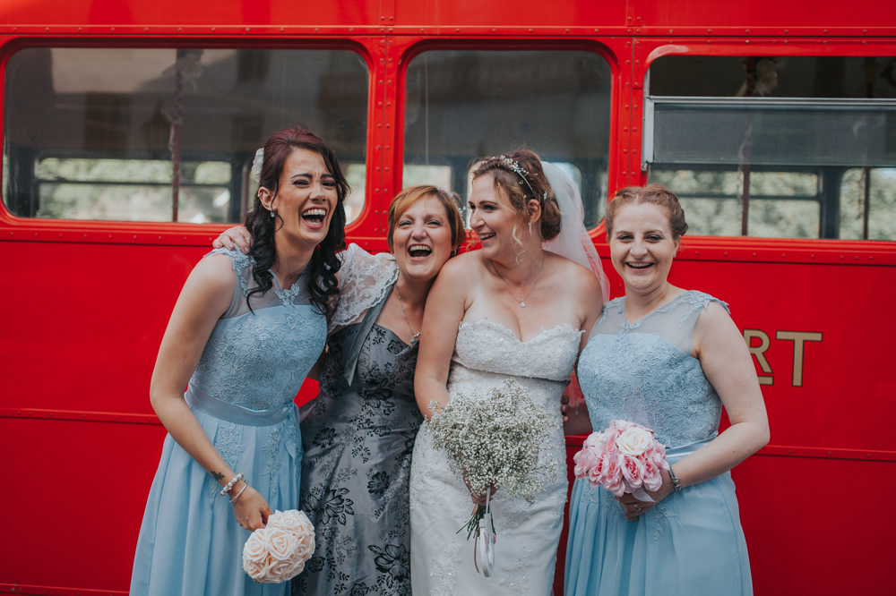 Jennifer & James' Bromley Wedding Photography with a London Bus! 32